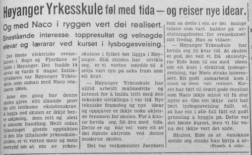 Sogn Folkeblad 23. oktober 1952